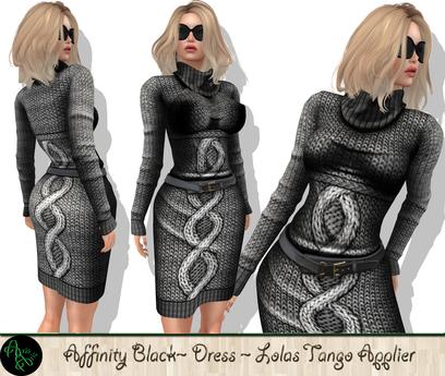 ***ArisAris Affinity Dress Black (Lolas Tango Applier)