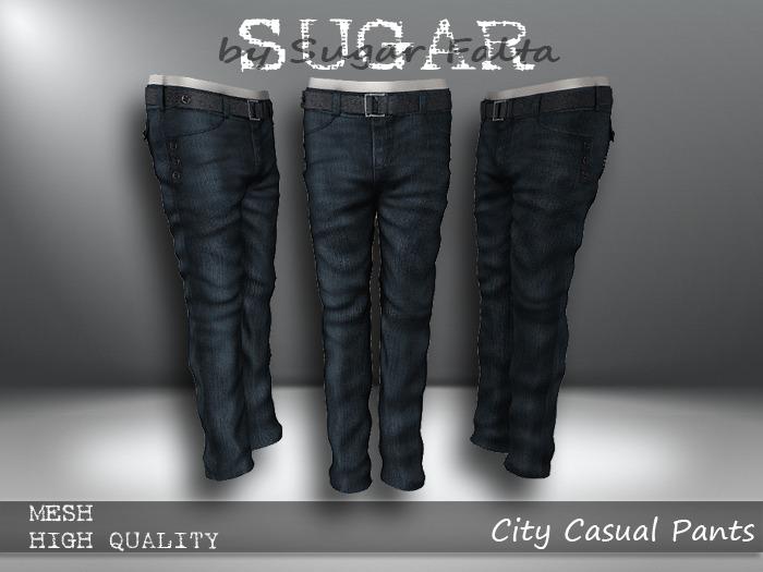 SUGAR for Men - City Casual Pants - BLUE JEAN