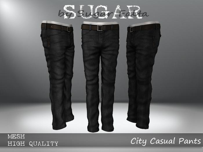 SUGAR for Men - City Casual Pants - BLACK JEAN