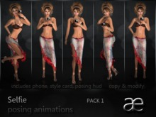 Selfie posing animations pack 1