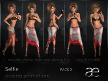 Selfie posing animations pack 2