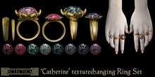 Eclectica 'Catherine' Ring Set-dark gold