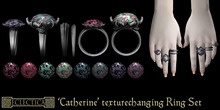 Eclectica 'Catherine' Ring Set-black