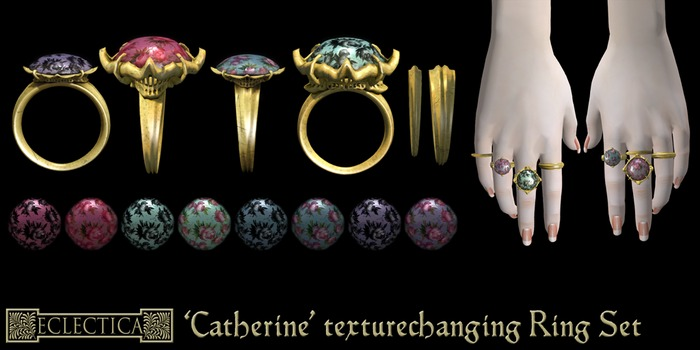 Eclectica 'Catherine' Pendant-silver