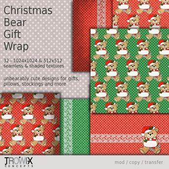 Trowix - Christmas Bear Gift Wrap Textures