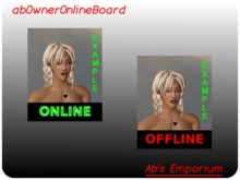 Owner Online Board (copy) -  online indicator - page, tip & give notecard