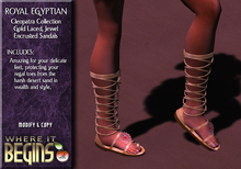 Egyptian Role-Play - Royal Egyptian Cleopatra Sandals