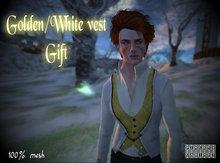 Golden&white vest  G I F T