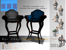 *:..Silvery K..:*Bar chair(Black and Blue)