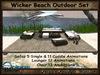 Sofa / Lounger Set Wicker Beach Outdoor with Patio & Parasol * PROMO PRICE *