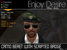 Camo Beret with scripted badge