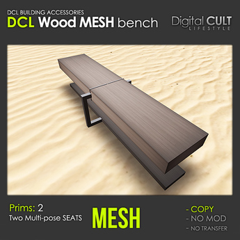 DCL Wood mesh Bench