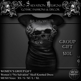 [[NS]] No Salvation Designs *MESH* GROUP GIFT Women's No Salvation Skull Knotted Dress ~ $1L IN-WORLD