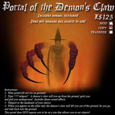 Portal of The Demon's Claw