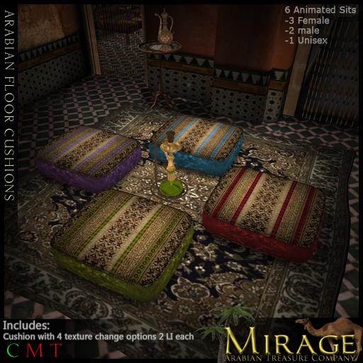=Mirage= Floor Cushion - Arabian