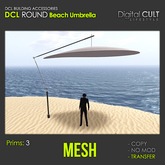 *** DCL Round Beach Umbrella [T]