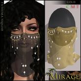 =Mirage= Fateema Niquab - Gold