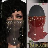 =Mirage= Fateema Niquab - Red