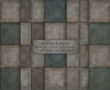 Second Life Marketplace Antique Tiles