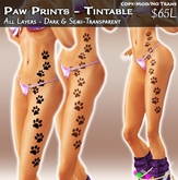 ::Para Designs:: Paw Prints - Tintable