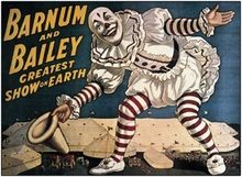 Old circus sign