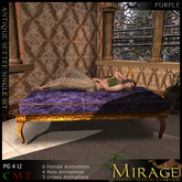 =Mirage= Setee Sofa - Purple