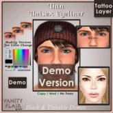 DEMO Color Change & Black THIN Eyeliner