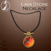 -= UZURI =- Lava Stone Necklace