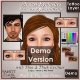 DEMO Tintable & Black Modest Eyelashes with Thin & Thick Eyeliner - UNISEX Tattoo