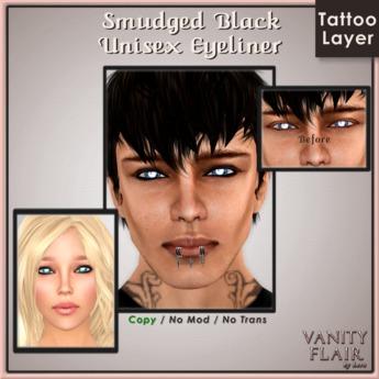 Smudged Black Eyeliner - Unisex Makeup Tattoo Layer Guyliner