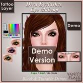 DEMO Tintable & Black DIVA Eyelashes Tattoo