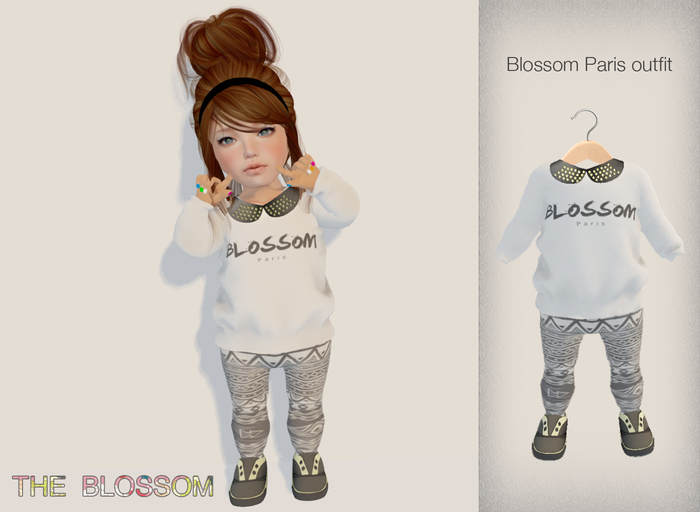 .The Blossom. Blossom Paris outfit Toddleedoo avatars only!