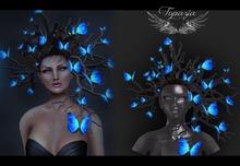TOPAZIA-  the butterflies  anderian headpieces (mesh) blue