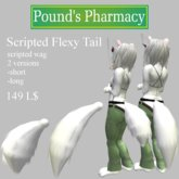 <<PP White Scripted Flexy Tail<<