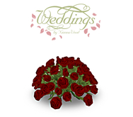 Red Rose Wedding Centerpiece - Trans Only