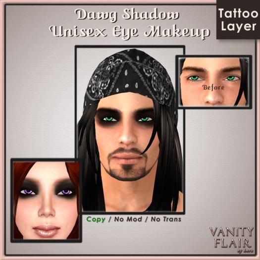 Dawg Shadow Eye Makeup - Unisex Makeup Tattoo Layer