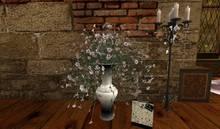 CJ Petunia Cream in ceramic Vase for Floor - c + m -