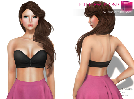 Full Perm System Bralet Top  - Bom Bake On Mesh