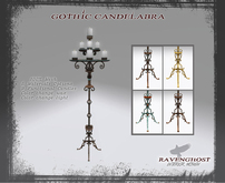 Victorian Gothic Floor Candelabra (9 Candles) COPY
