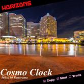 Strato-Cube Scene - Cosmo Clock 6-Megapixel 360x180 Panorama Mesh Skybox