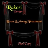 Bows & Swag - Red & Black - MOD/COPY - Xntra City