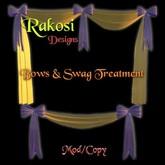 Bows & Swag - Lavender & Yellow - MOD/COPY - Xntra City