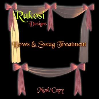 Bows & Swag - Pink & White - MOD/COPY - Xntra City