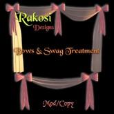 Bows & Swag - Rose et Blanc - MOD / COPY - Xntra Ville