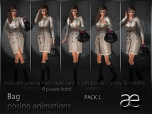 Bag poses for bloggers Pack 1 - left hand