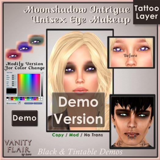 DEMO Color Change & Black MOONSHADOW Eyeshadow
