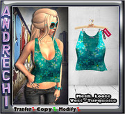 """""""=AnDreChi="""" -Mesh_Loose Vest - Turquoise- R"""