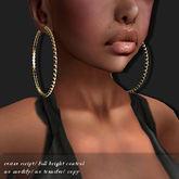 Earring Sterling Silver Gold Huge-Hoop      -RYCA-