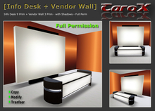[C a r o X] Info Desk / Reception / Counter + Vendorwall - Full Perm