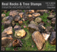 :Fanatik Architecture: Real Rocks & Tree Stumps - ultra realistic mesh stones and tree stumps with materials